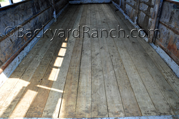 Finished trailer floor showing correct gaps.